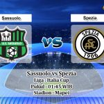 Prediksi Sassuolo vs Spezia 19 Agustus 2019