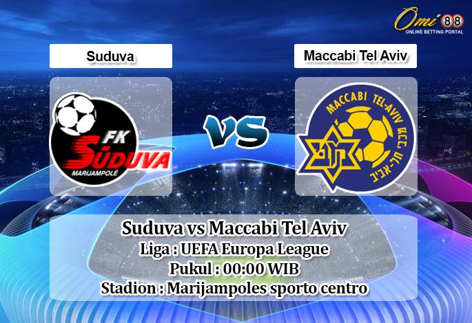Prediksi Suduva vs Maccabi Tel Aviv 16 Agustus 2019