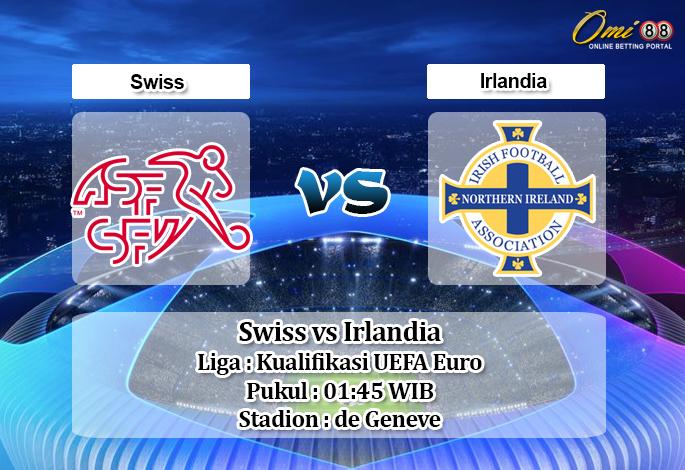 Prediksi Swiss vs Irlandia 16 Oktober 2019